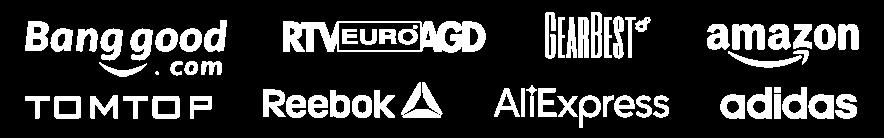 Logo sprzedawcy na banerze dla wydarzenia Black Friday 2017