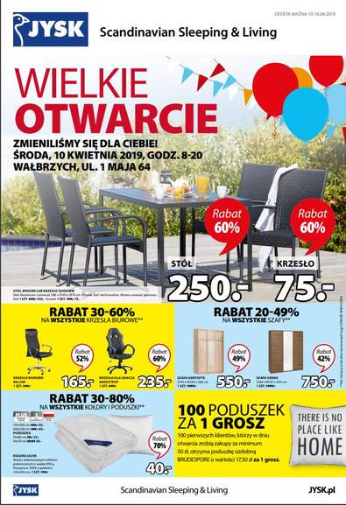 b0c6a5ea Wielkie Otwarcie Jysk 1Maja 64 Wałbrzych (Galeria Victoria) - Pepper.pl