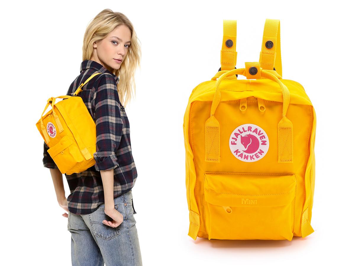 sprzedawane na całym świecie świetna jakość ekskluzywny asortyment Plecak Fjällräven Mini Kånken (Yellow Warm) na MD + Classic ...
