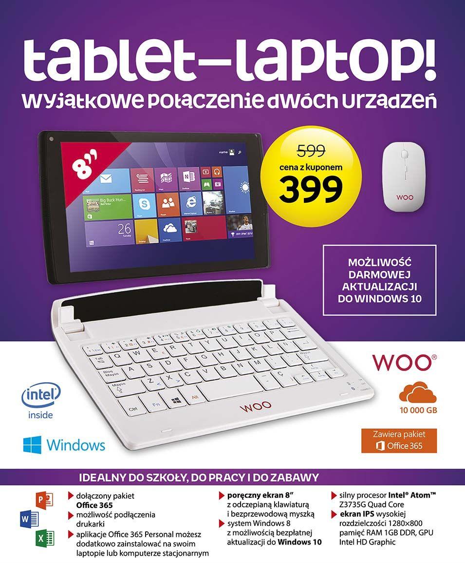 Tablet + dołączana klawiatura + myszka WOO Antares 841 (Windows 8.1/10) za 399zł @ Empik