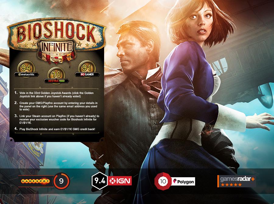 Bioshock Infinite (PC,MAC - Steam) za ok. 6zł (możliwość otrzymania ZA DARMO) @ GMG
