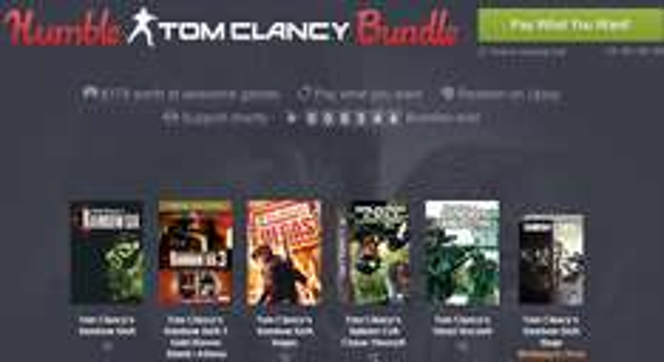 Gry z serii Tom Clancy's od ok. 3,75zł @ Humble Bundle