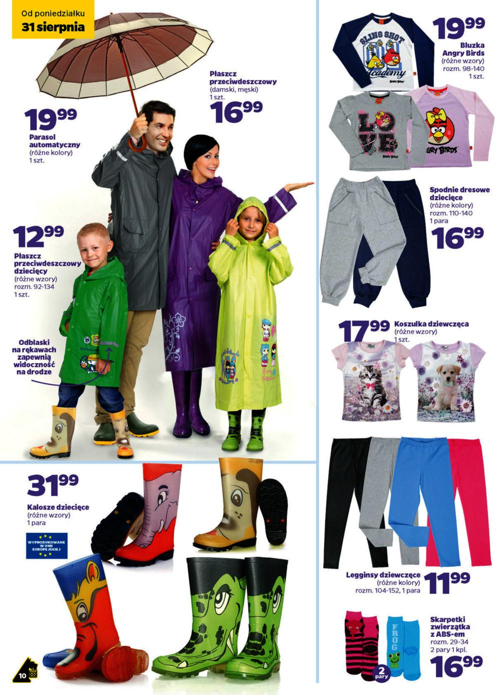Przeciwdeszczowy płaszcz dziecięcy za 12,99zł @ Netto