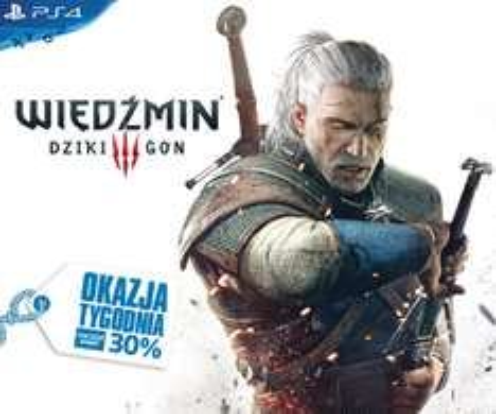 Wiedźmin 3: Dziki Gon na PS4 30% taniej @ Playstation Store
