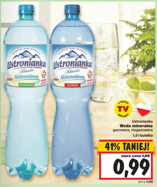 Woda mineralna Ustronianka Biała 1,5l za 99gr @ Kaufland