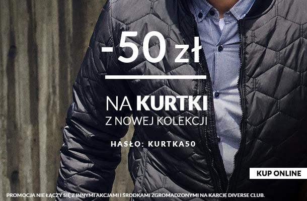 kod na 50zł rabatu na kurtki z nowej kolekcji @ Diverse