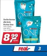 sucha karma dla kotów Purina One 800g za 8,99zł ! @ Real