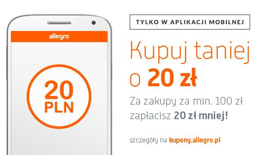 (AKTUALIZACJA) DO 25 SIEPRNIA - 20zł na zakupy w serwisie allegro za korzystanie z mobilnej aplikacji! @ Allegro