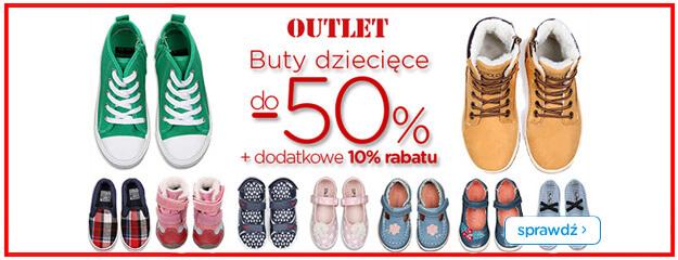 Buty dziecięce - do 50% zniżki + dodatowe 10% rabatu @ Smyk
