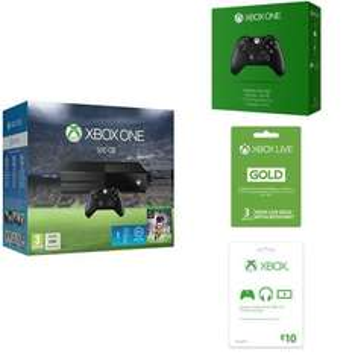 Xbox One 500GB + FIFA 16 + 1 miesiąc EA Access + dodatkowy kontroler + 3 mies. Xbox live Gold + €10 do wydania w Xbox live za ok. 1600zł @ Amazon.de