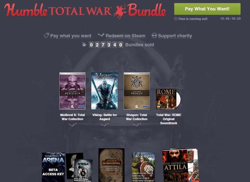 Zestaw Total War (zestaw gier od 3,75zł) @ Humble Bundle