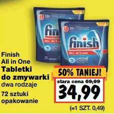 Tabletki do zmywarki Finish All in One (72szt.) taniej o połowę @ Kaufland