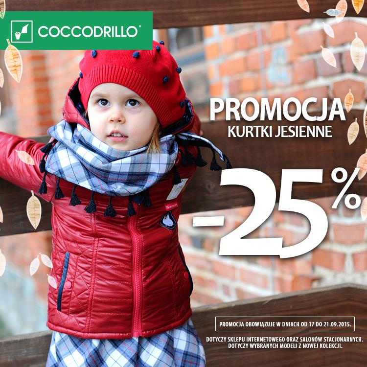 Kurtki jesienne z rabatem -25% @ Coccodrillo