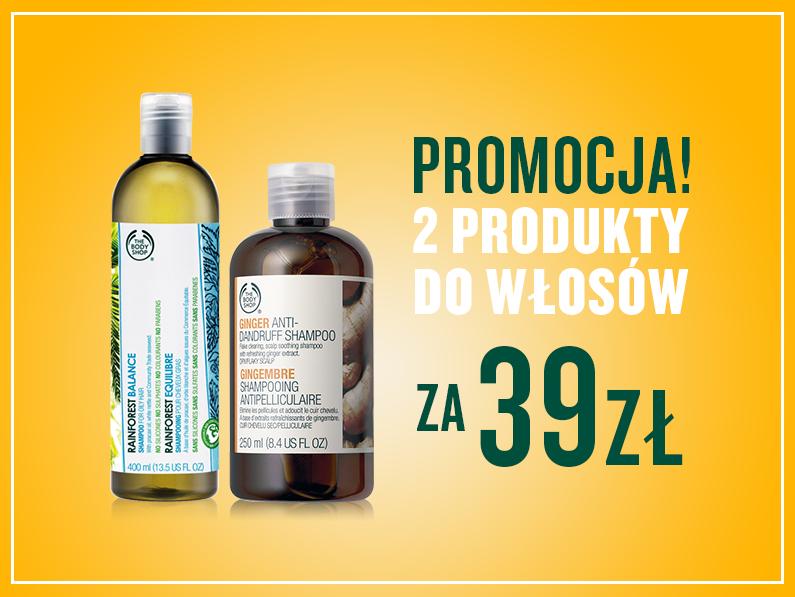 Dwa produkty do włosów w cenie 39zł @ The Body Shop