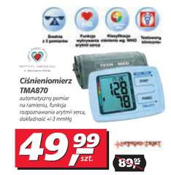 Ciśnieniomierz TECH-MED TMA-870 za 49,99zł @ Real