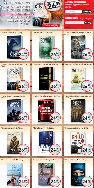 Nowa oferta książek - Coben, King, Brett, Bonda i inni od 24,99zł @ Biedronka