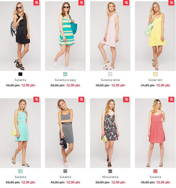 Sukienki za 12,90zł (8 różnych modeli!) @ C&A