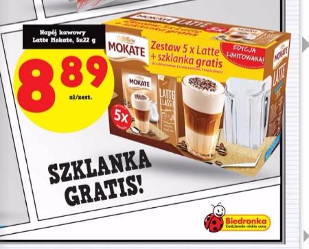 Zestaw Latte + szklanka GRATIS za 8,89zł @ Biedronka