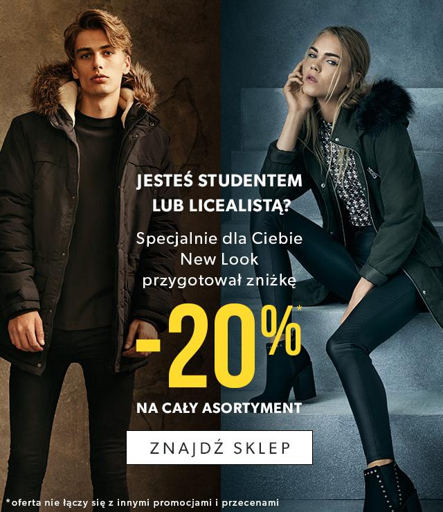 Rabat -20% dla studentów i licealistów @ New Look