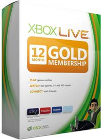 Xbox Live GOLD 12 miesięcy za 118,40zł  @ G2A