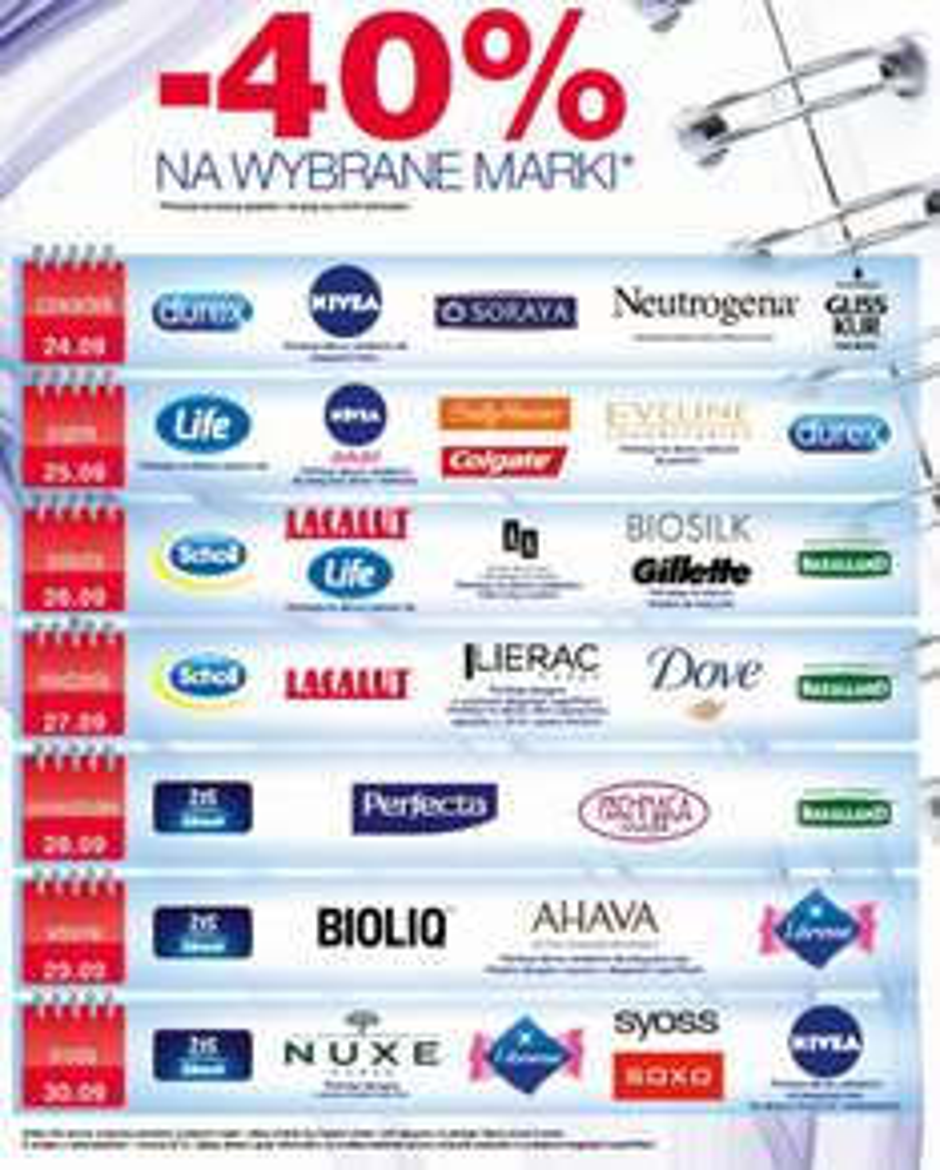 -40% rabat na różne marki ( Nivea, Gillette, Syoss, Dove, Scholl, Colgate i in.) @ Super-Pharm (klub LifeStyle)