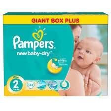 Pieluszki Pampers Giant Box Plus za 67,99zł @ Tesco