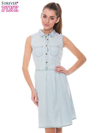 Dżinsowa sukienka z koronką za 48zł (-60%) @ Butik
