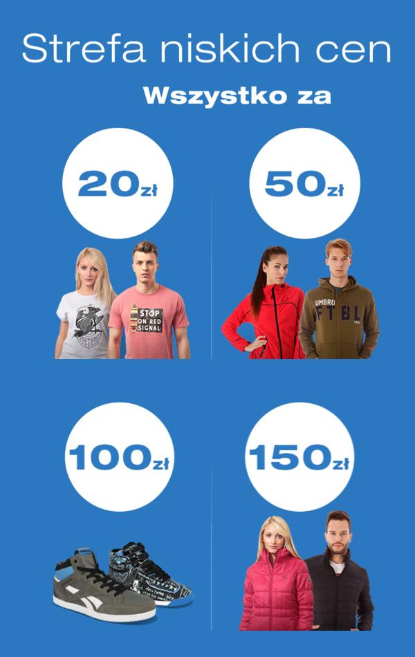 Strefa niskich cen: koszulki i spodnie za 20zł, buty i bluzy za 50zł i in. @ 50Style