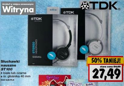 Słuchawki TDK ST-100 za 27,49zł @ Kaufland