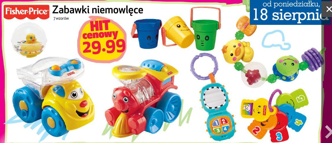 Zabawki niemowlęce Fisher-Price za 29,99 zł @ Lidl