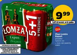 6pak piwa Łomża Export (6x0,5l) za 9,99zł @ Netto