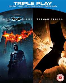 Batman Begins / The Dark Knight (DVD + Blu-Ray) ~30zł @ Zaavi