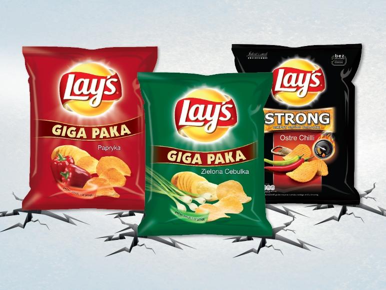 GIGA Paka Chipsów Lay's za 4.99zł @ Lidl