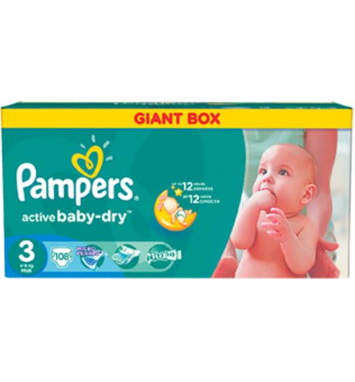 Pieluszki Pampers Giant Box za 59,49zł @ Intermarche
