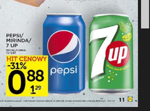 Pepsi & 7UP, 88 groszy za puszkę w Lidlu!