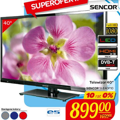 Telewizor Sencor SLE 40F10 za 899 zł @ Carrefour
