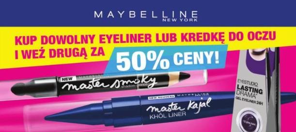 druga dowolna kredka lub eyeliner Maybelline za pół ceny @ Super-Pharm