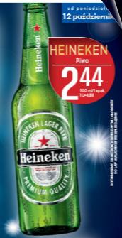 Heineken w butelce 0,5l w cenie 2,44zł @ Lidl