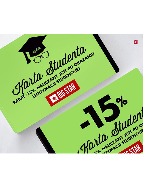 Rabat -15% na każde zakupy z kartą studenta @ Big Star