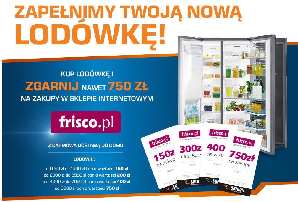 Nawet 750 zł na zakupy w sklepie internetowym Frisco.pl @ Saturn