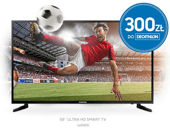 Nawet 400zł do wydania w Decathlonie przy zakupie wybranych telewizorów lub soundbarów marki Samsung