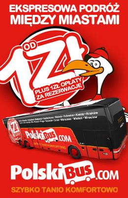 Polski Bus z/do Lublina za 6 zł