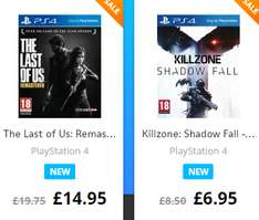 TLOU: Remastered ~ 98zł, Killzone: Shadow Fall ~ 52zł (PS4) @ The Game Collection