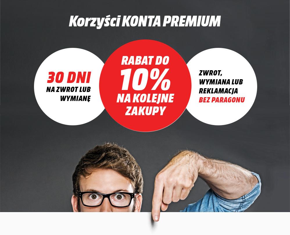 Konto Premium - do 10% rabatu na kolejne zakupy @ Media Markt