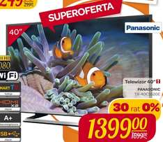 "Panasonic TX-40CS520E (40"", LED, Full HD, Smart TV) za 1399zł @ Carrefour"