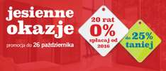 Do 25% rabatu na meble i dodatki + 20 rat 0% @ Black Red White