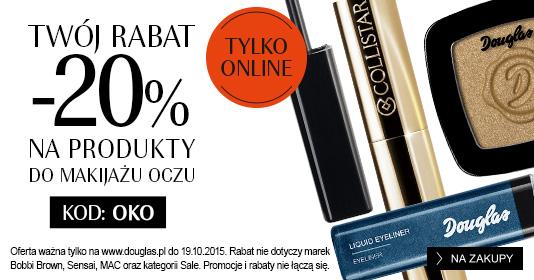 20% zniżki na kosmetyki + GRATIS do zakupów @ Douglas