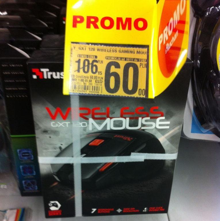 TRUST GXT 120 Wireless Gaming Mouse - myszka dla graczy @ Auchan