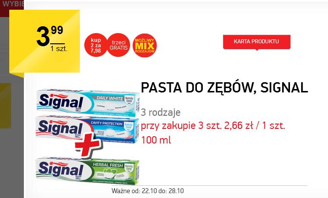 2+1 przy zakupie past do zębów Signal @ Intermarche
