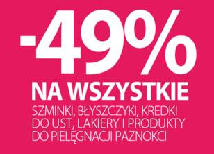 49% taniej na wszystkie szminki, błyszczyki, kredki do ust itd. @ Rossmann